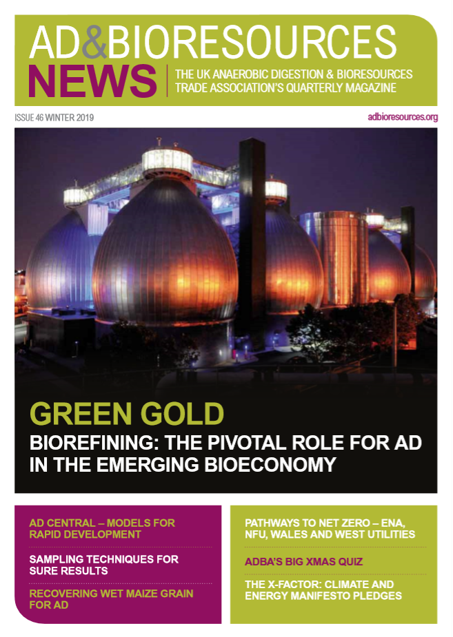 Welcome To The December Issue Of AD & Bioresources News And AD & Bioresources International