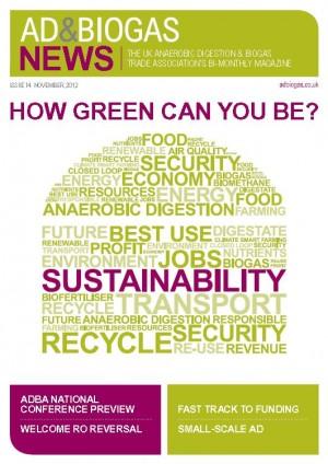 AD & Biogas News – Issue 14, November 2012